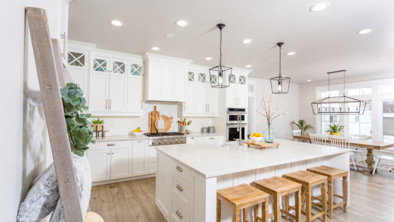 White Kitchen Remodeling Project in Houston, TX