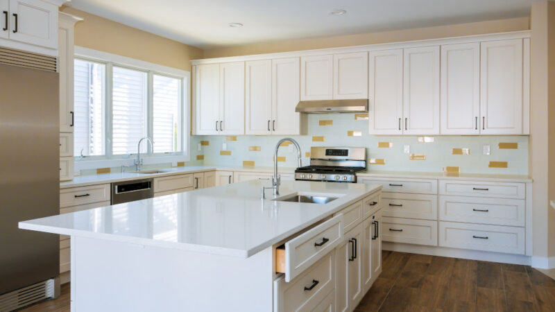 Small Black Kitchen Remodeling Project in Houston, TX